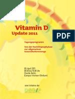 Vitamin D Update 2011 Tagungsprogramm