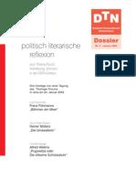 Politisch Literarische Reflexion Zum Thema Flucht, Vertreibung Erinnern in Der DDR-Literatur
