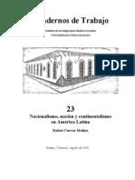 Nacionalismo, nación y continentalismo en América Latina por Rafael Cuevas Molina