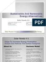 Sustainable Renewable Energy Alternatives