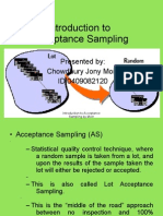 Introduction to Acceptance Sampling by Moin