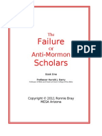 The Failure of Anti-Mormon Scholars - Harold J Berry