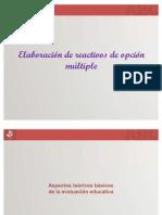 Evaluacion y Elaboracion de Reactivos de Opcion Multiple
