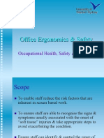 Office Safety Ergonomics Handout
