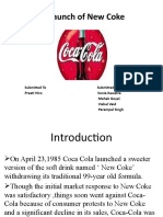 The Launch of New Coke