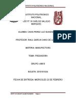 Instituto Politecnico Nacional Fresadora