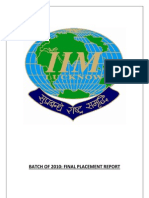 IIML Placement 2010
