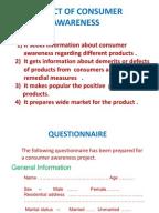 Case study on consumer awareness?