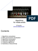 Algorithms for Media-Artists