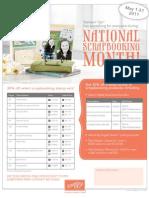 Nat Scrap Month Flyer