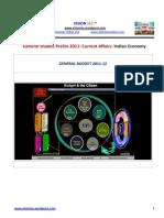 Ias Prelim 2011 Current Affairs Notes Budget 2011 12 Vision Ias