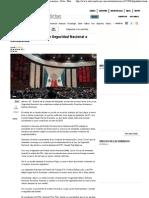 30-04-11 Diputados turnan Ley de Seguridad Nacional a comisiones -