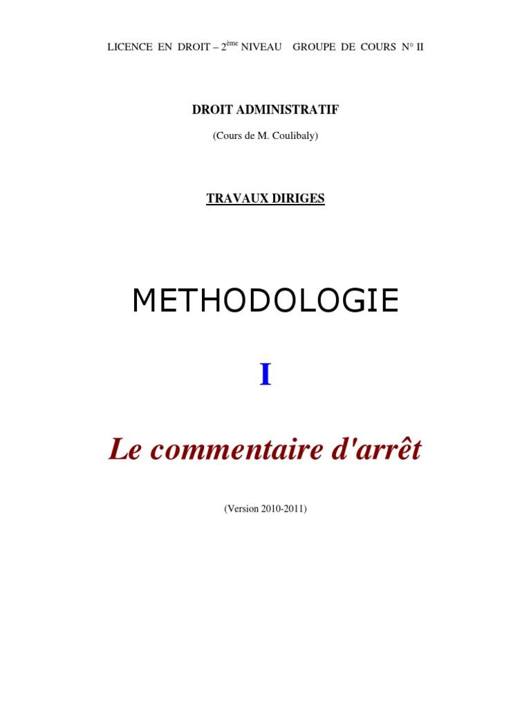 Exemple De Commentaire D Arrêt Droit Civil Rédigé - Le ...