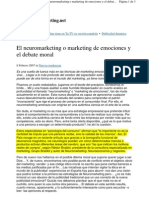 Web Del Marketing - Articulo Mencion Neuromarketing