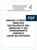 GUÍA DE ESTUDIO DE ANALISIS SOCIOLOGICO DEL DERECHO (UBV)