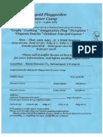 Marigold Playgarden Summer Camp