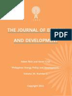 """Philippines Energy Policy and Development,"" by Adam Rein and Karen Cruz"