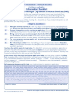 Michigan Department of Human Services Information Booklet and Assistance Application