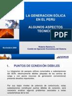 19_Aspectos Tecnicos de La Generacion Eolica en Peru Roberto Ramirez_NOV_2009