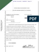 310-Cv-03647-Wha Docket 31 Order Denying Motion to Strike as Moot