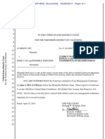 310-cv-03647-WHA Docket 32 CLERK'S NOTICE SCHEDULING INITIAL CASE MANAGEMENT CONFERENCE ON REASSIGNMENT