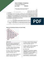 Exercícios de Química