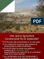 IMPACTOS DE LA AGRICULTURA MODERNA - ORIGEN DEL PENSAMIENTO AGROECOLÓGICO