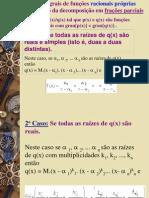 Integrais de funções racionais próprias