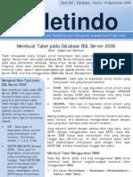 25 Membuat Tabel Pada Database SQL Server 2008