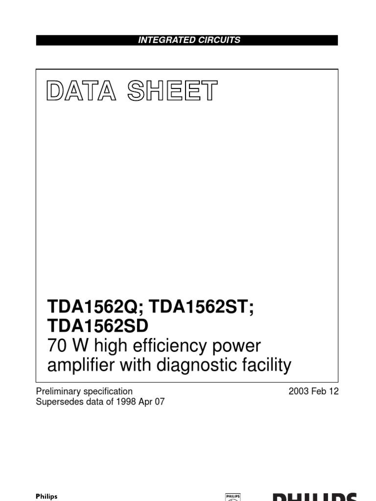 tda1592 amplifier power supply