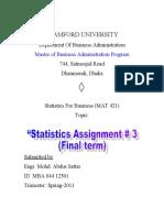 Statistics Assignment 2-2