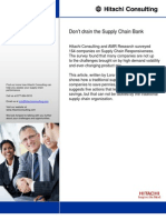 Dont Drain the Supply Chain Bank