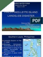 Philippines Leyte Island Landslide Disaster