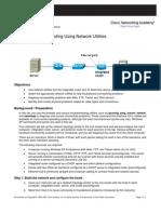 Lab 9.2.7 Troubleshooting Using Network Utilities