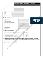 Sample Online Application Form Lucy 2011