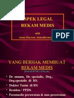 Aspek Legal Rekam Medis