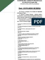 depliant Elezioni prov. 1995
