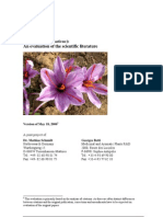 Saffron (Crocus Sativus) - An Evaluation of the Scientific Literature