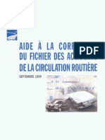 aide à la correction du fichier des accidents de la circulation routière