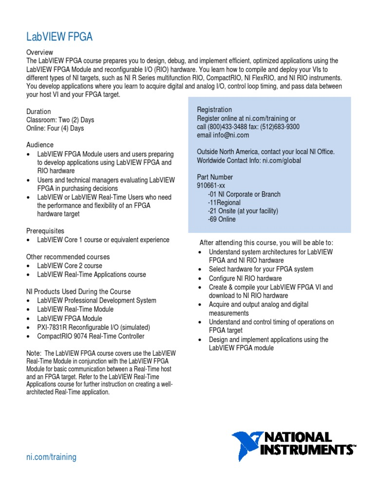 labview fpga field programmable gate array compiler rh es scribd com National Instruments FPGA Board FPGA Training