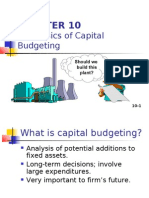 Basics of Capital Budgeting