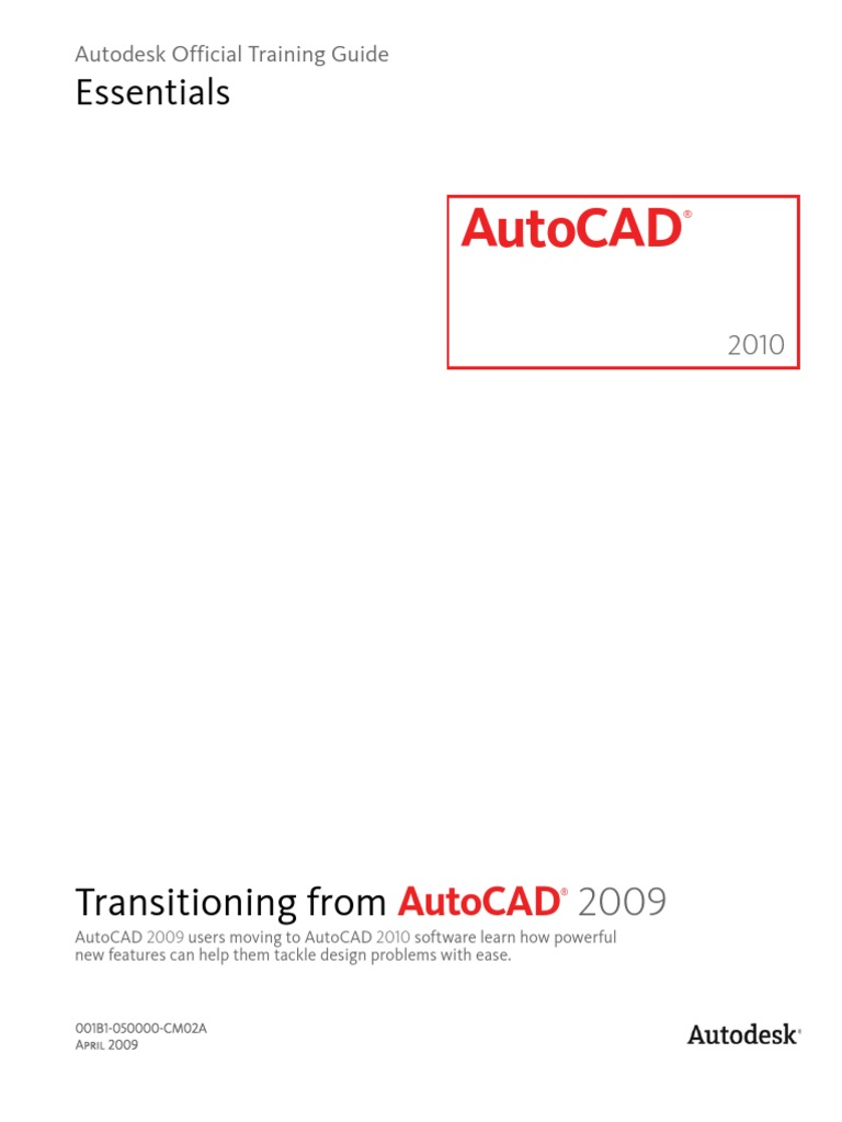 autocad 2010 transitioning from autocad 2009 toc auto cad autodesk rh scribd com AutoCAD 2010 AutoCAD 2007