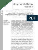 L'entreprenariat ethnique en France