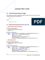 Bab 6 - Solusi Persamaan Nonlinier - Updated