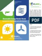 JELARE Renewable Energies Market Needs Book