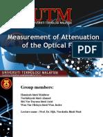 Measurement of Attenuation of the Optical Fiber