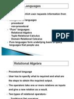 Relational Algebra and Relational Calculus MCA