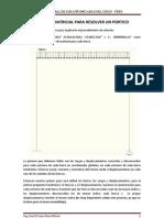 Metodo Matricial Para Resolver Un Portico