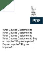 Impulse Buying Causes
