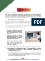 Plaquette Transcriptus Agences